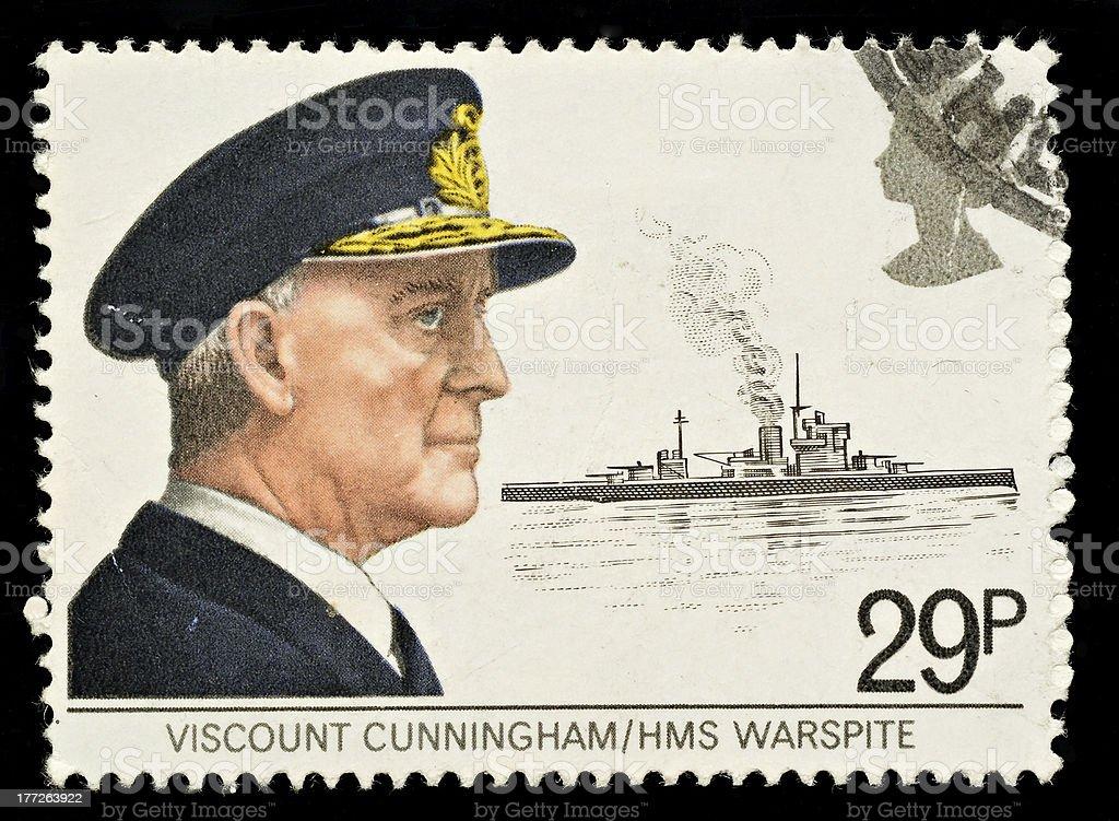 British Maritime Heritage Postage Stamp stock photo