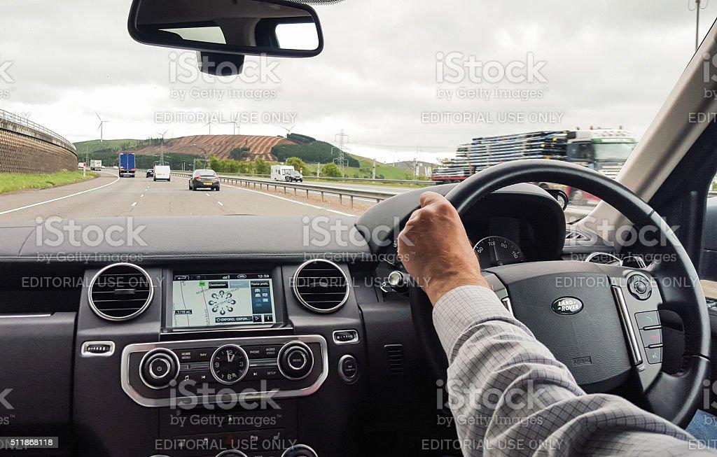 British Motorway Driving stock photo