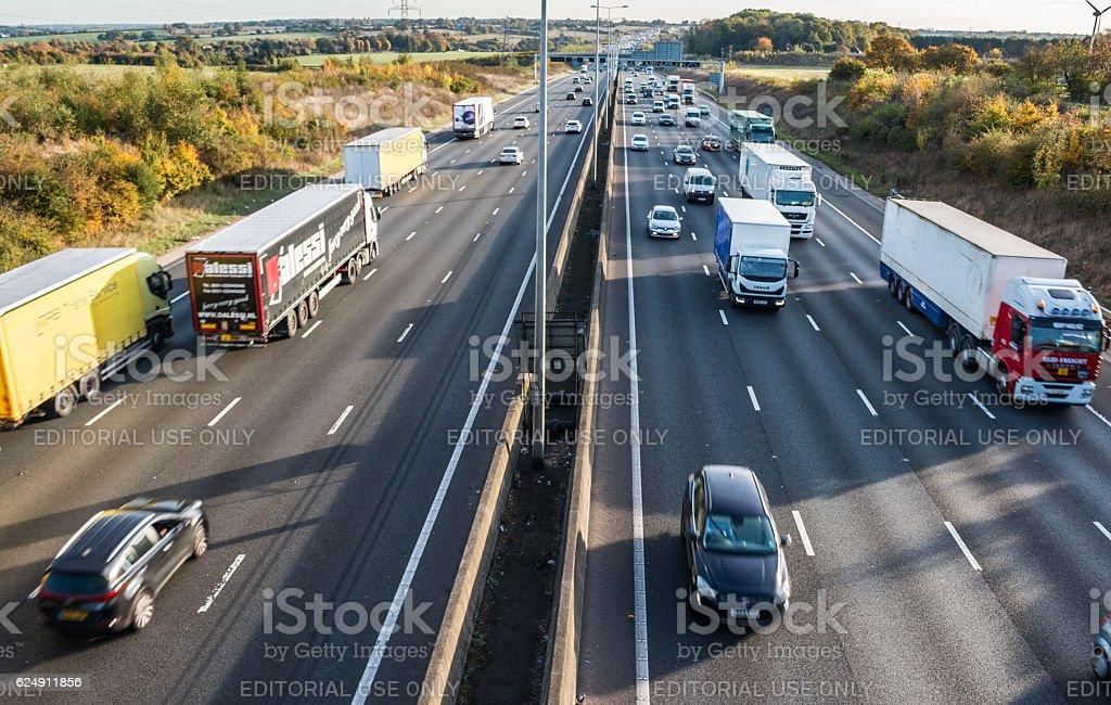 British motorway stock photo