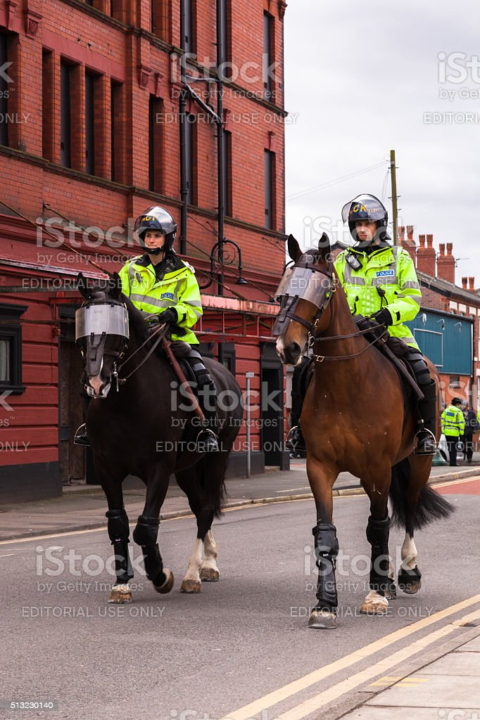 British Mounted Police Officers stock photo