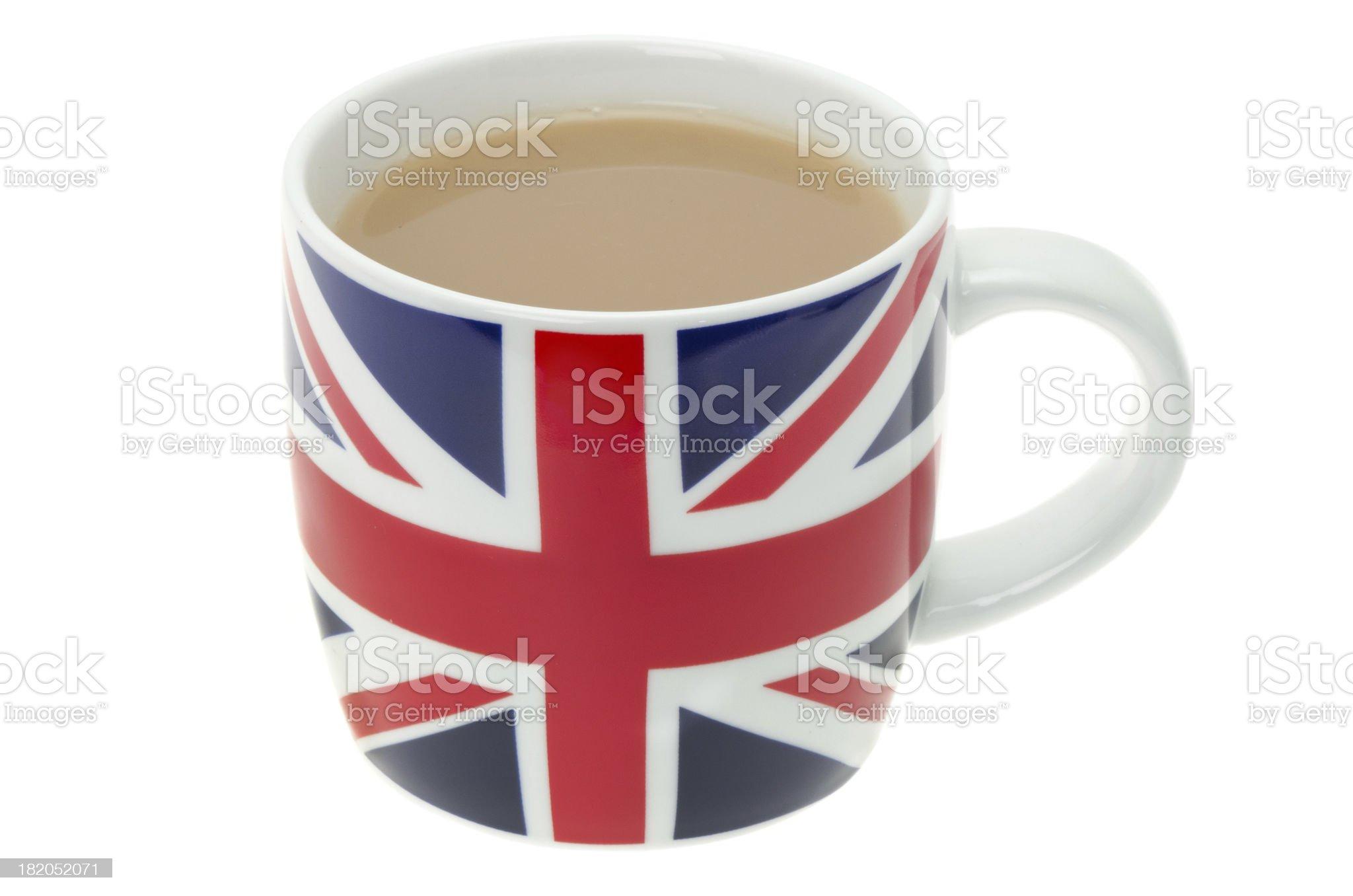 British mug full of hot tea royalty-free stock photo
