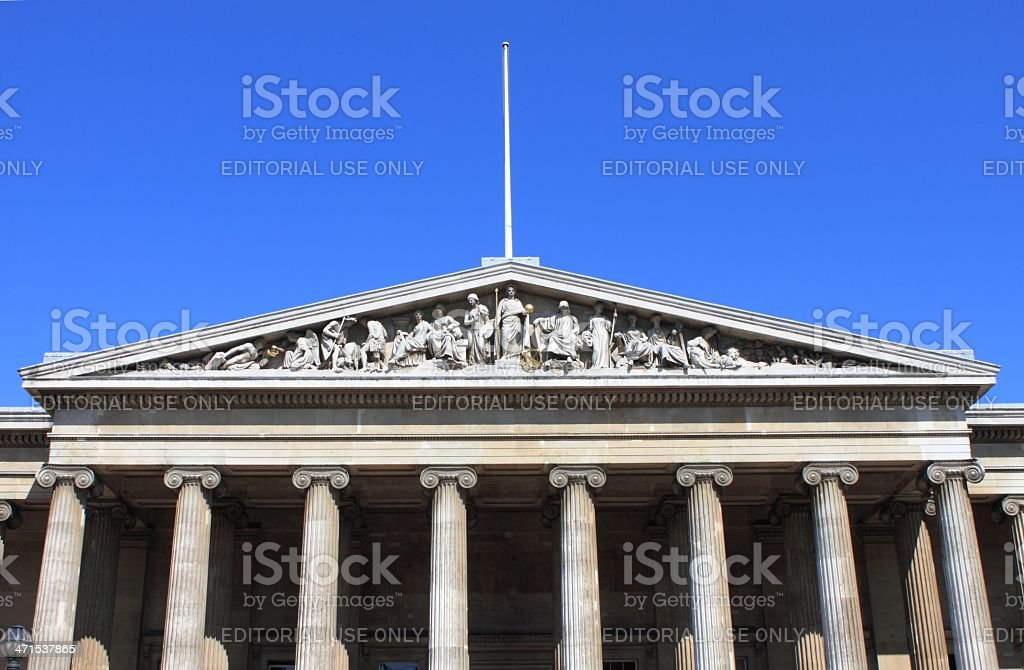 British Museum facade royalty-free stock photo