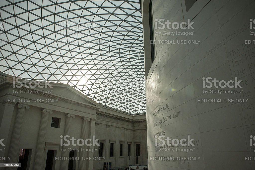 Foyer Museum London : British museum foyer interior glass ceiling stock photo