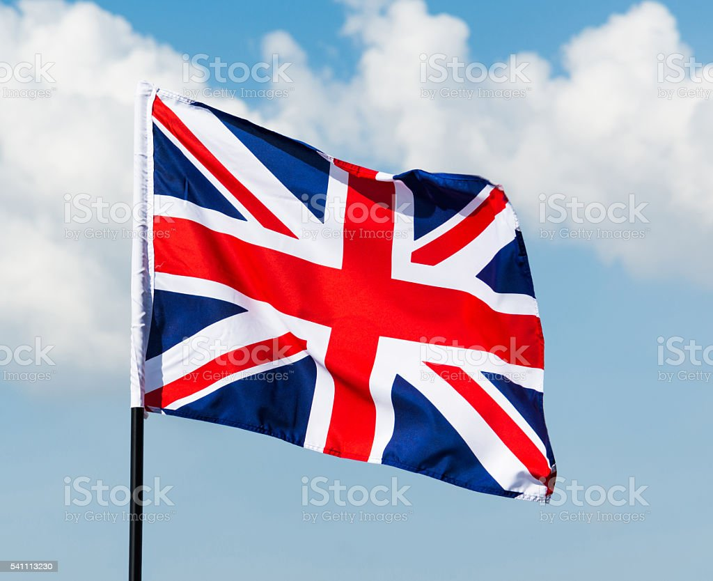British National flag stock photo