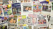 British newspapers reporting Prime Minister David Cameron resigns