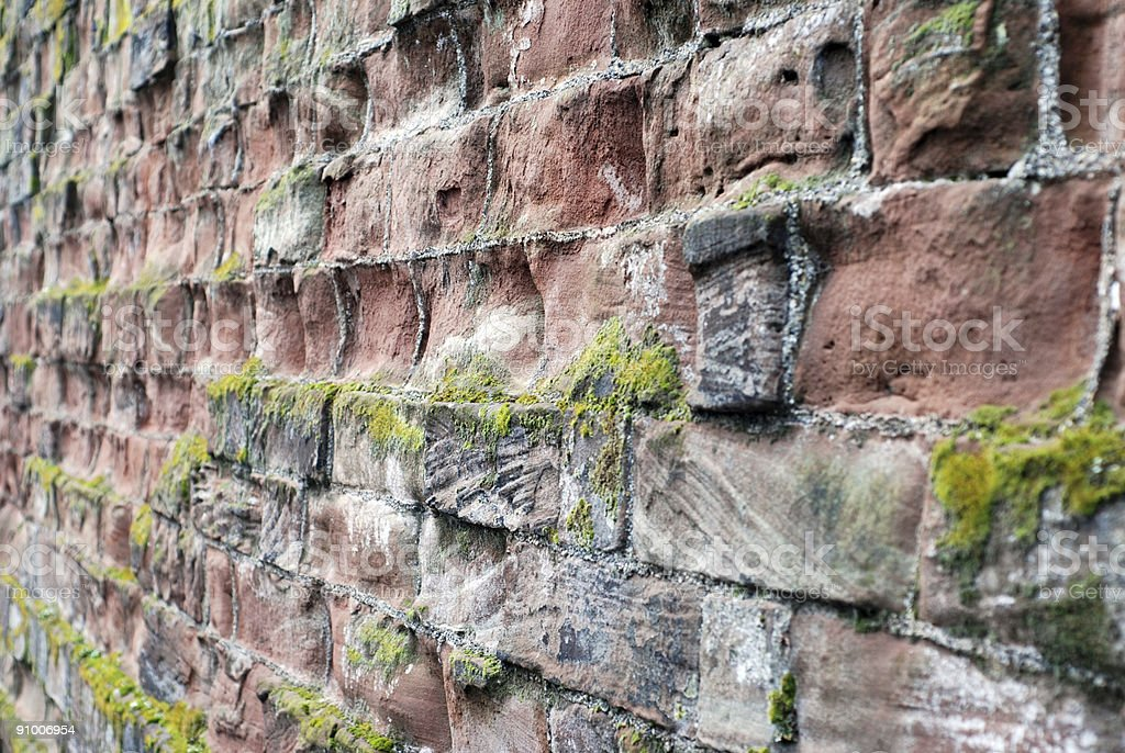 British old roman wall in Chester royalty-free stock photo