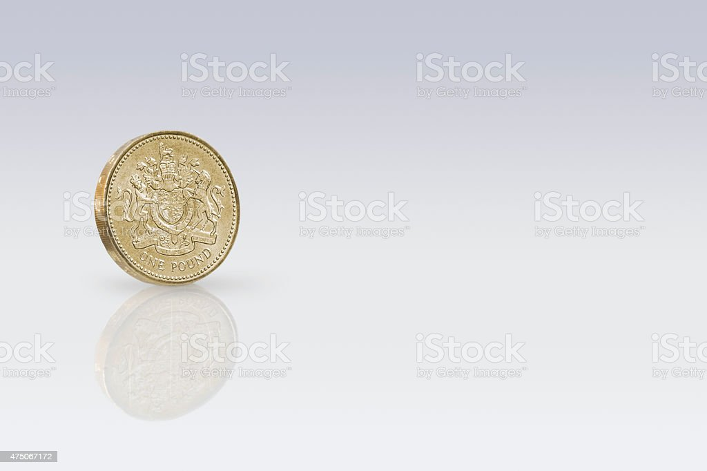 British One Pound stock photo