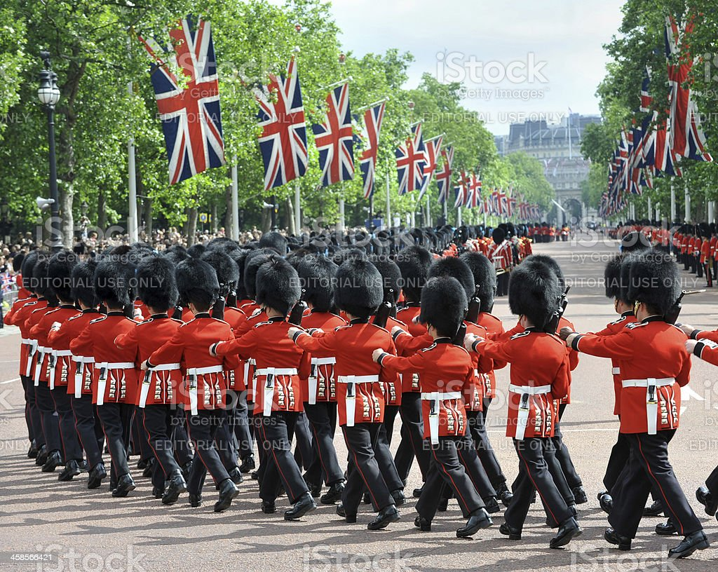 British Pageantry royalty-free stock photo