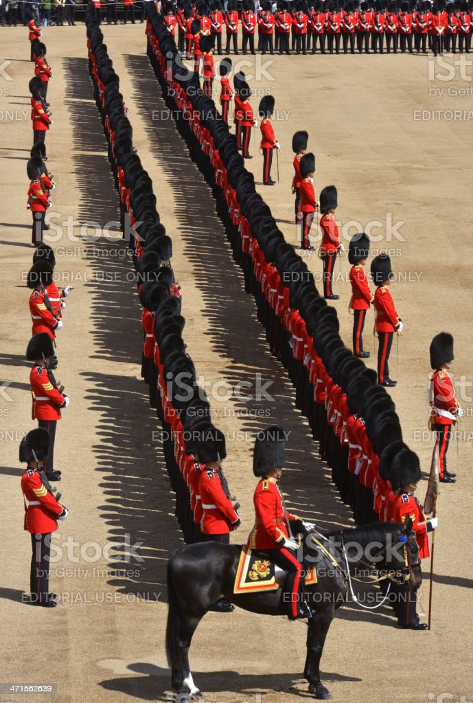 British Parade royalty-free stock photo