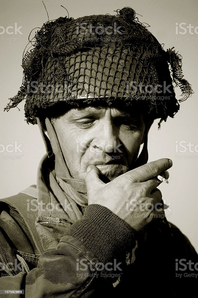 WW2 British Paratrooper. stock photo