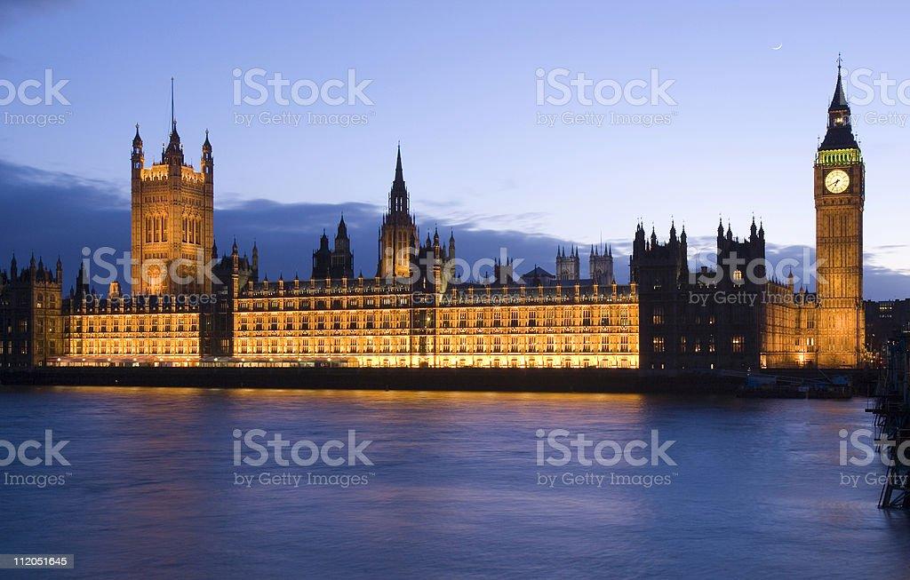British Parliament at dusk. royalty-free stock photo
