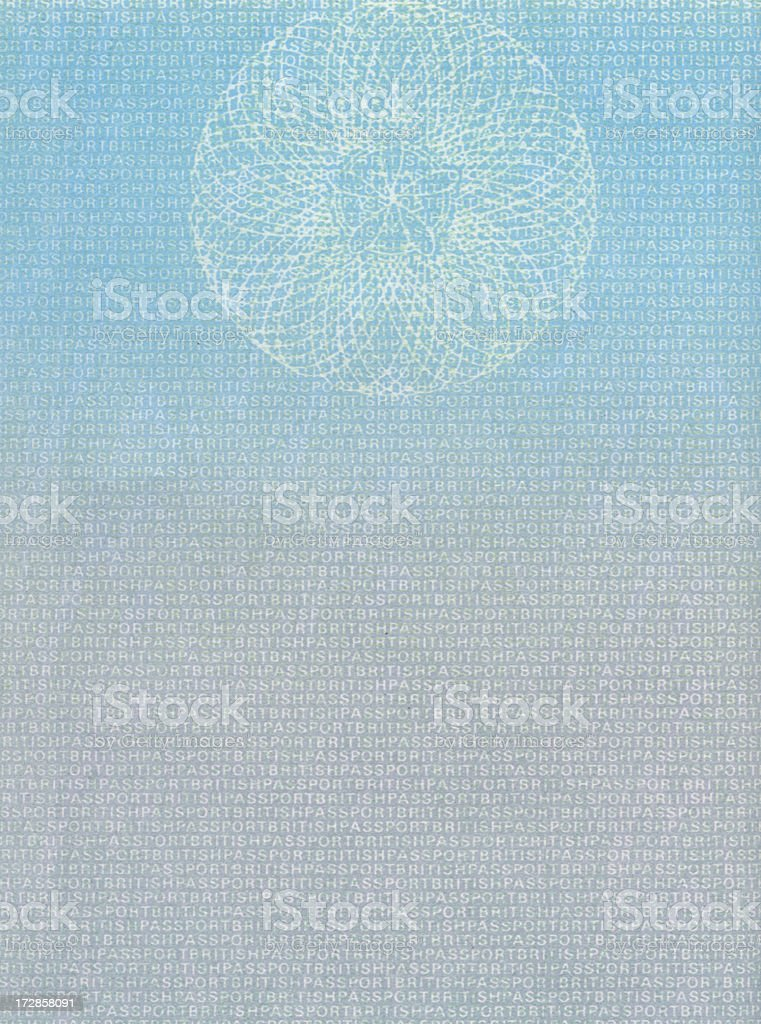 British Passport Blank page stock photo