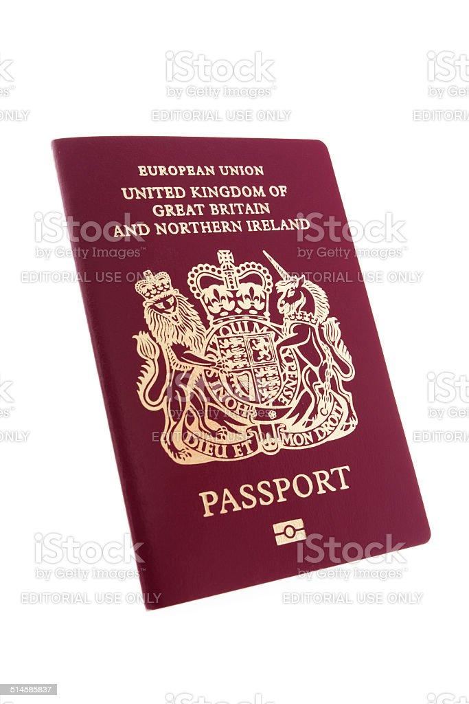 British passport stock photo