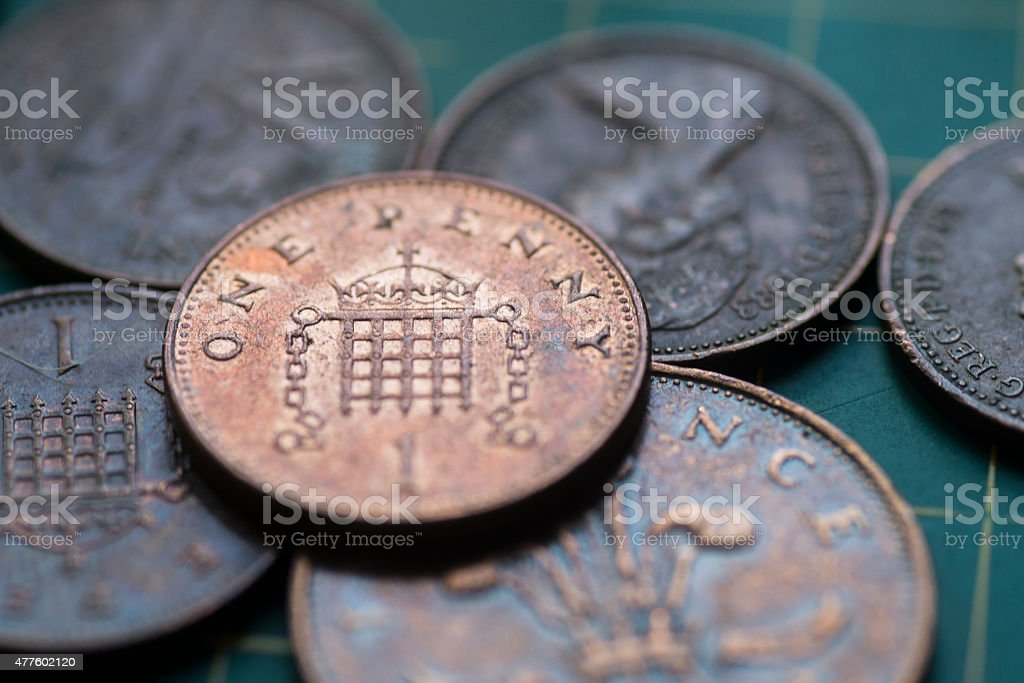 British pence stock photo