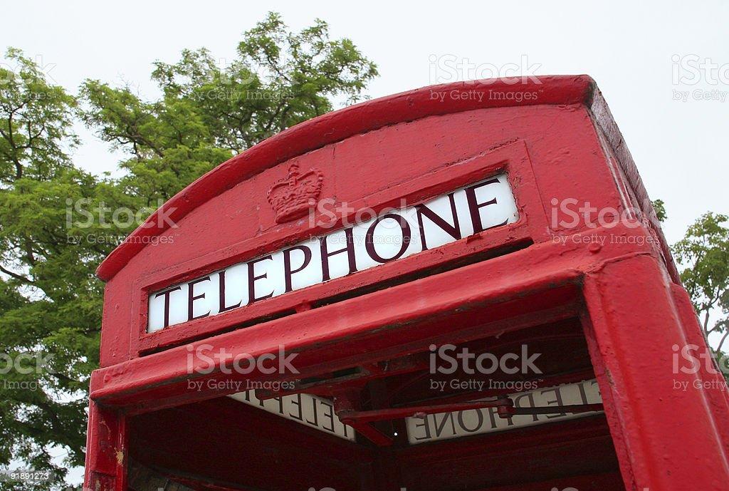 British phone booth royalty-free stock photo