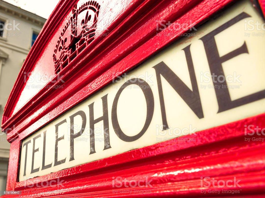 British Phone Box detail stock photo