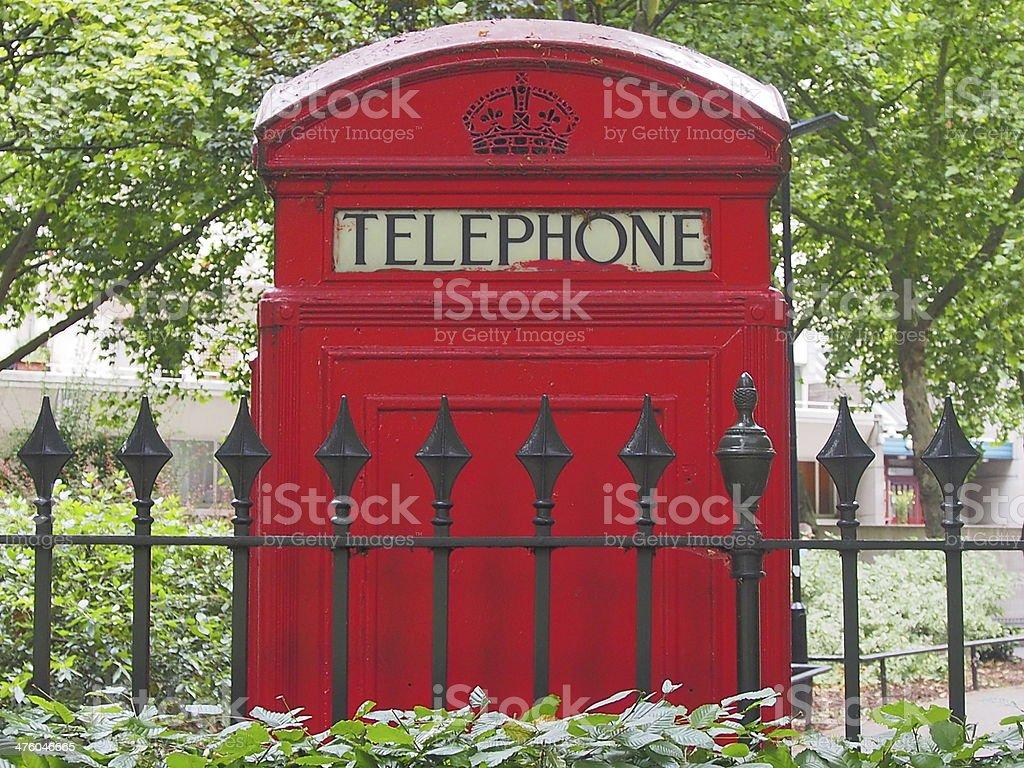 Британский телефон коробки Стоковые фото Стоковая фотография