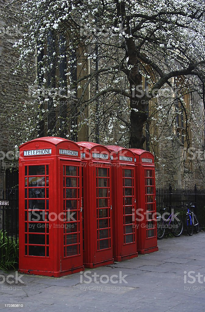 British phone boxes royalty-free stock photo