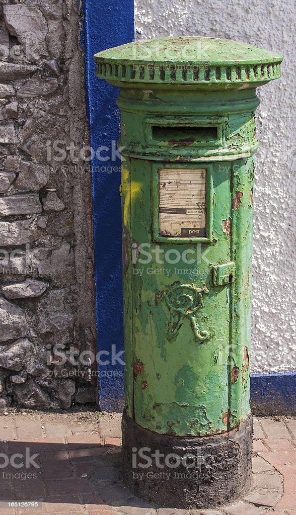 British Pillar Box in Republic of Ireland stock photo