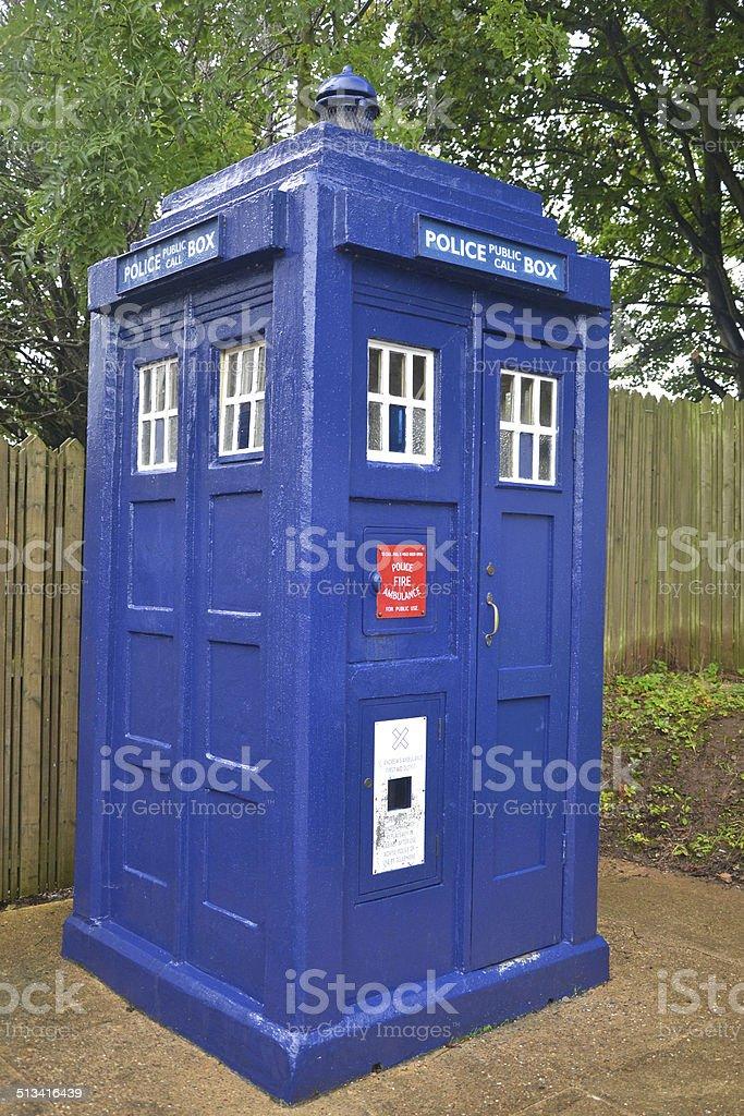 British Police Box stock photo