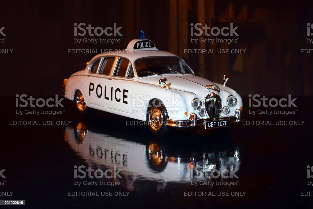 British police car model in scale stock photo