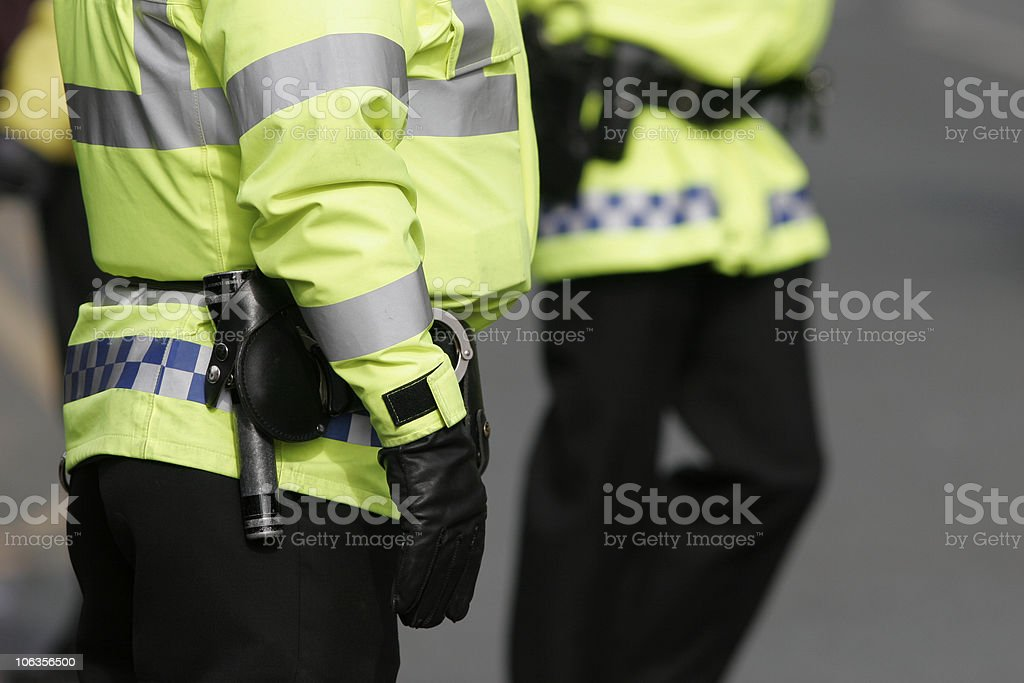 British Police, High visibility stock photo
