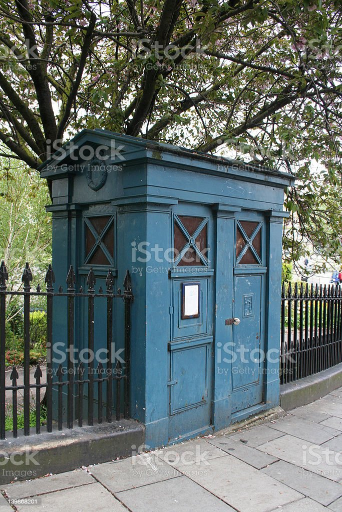 British Police Information Box (Tardis) royalty-free stock photo