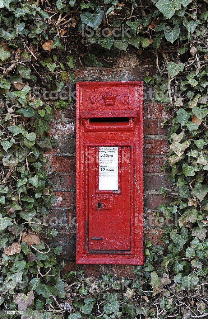 British Post Boxes stock photo