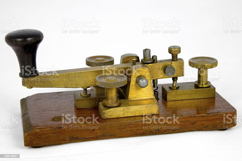 British Post Office Morse key royalty-free stock photo