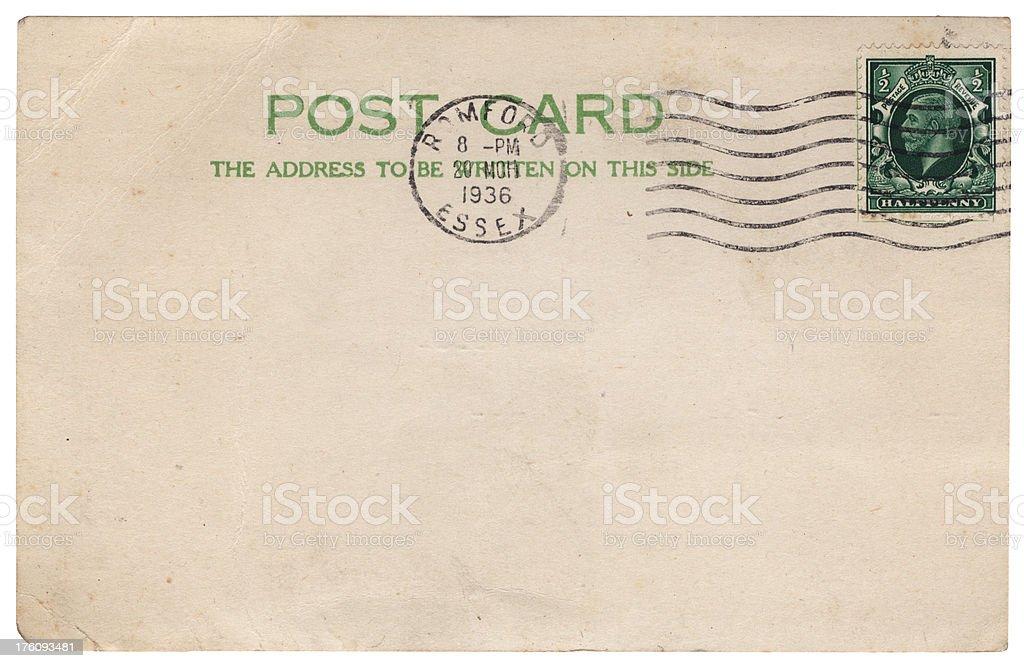 British postcard from Romford, Essex, 1936 royalty-free stock photo