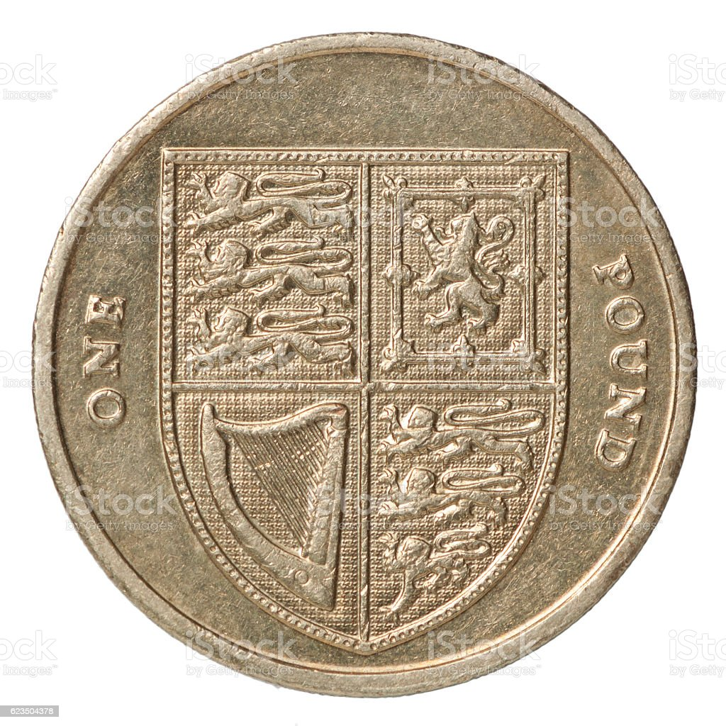 british pound coin stock photo