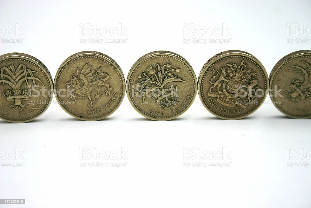 british pound coins royalty-free stock photo