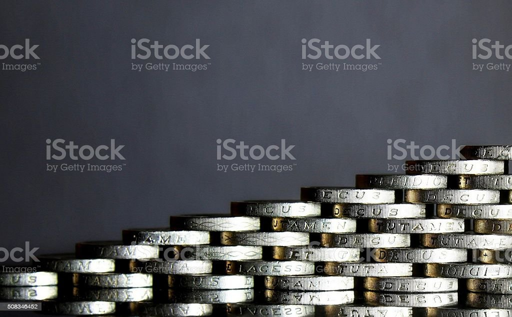 British pound coins stock photo