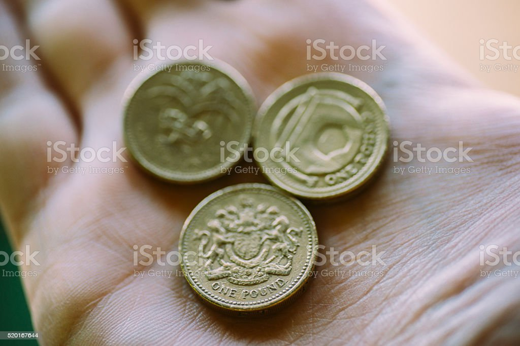 British pound coins stock photo