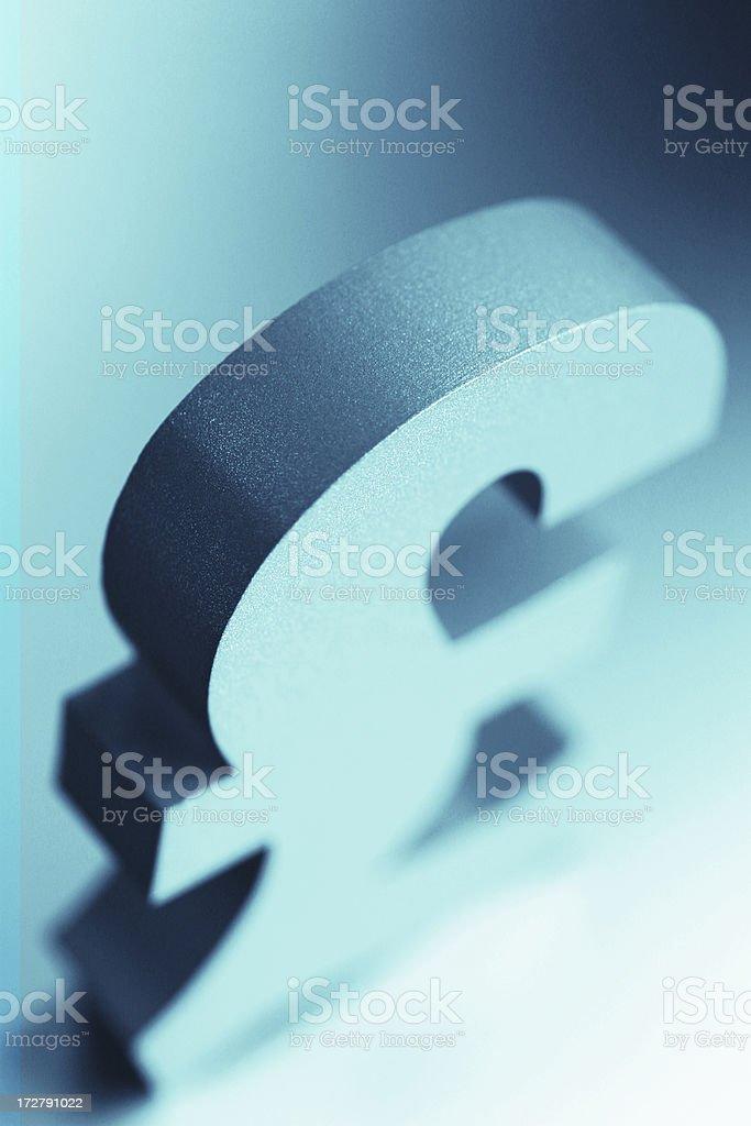 British Pound Sign royalty-free stock photo