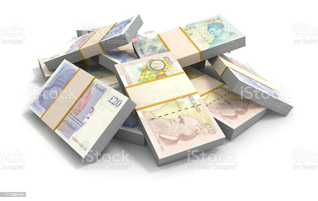 British Pounds royalty-free stock photo