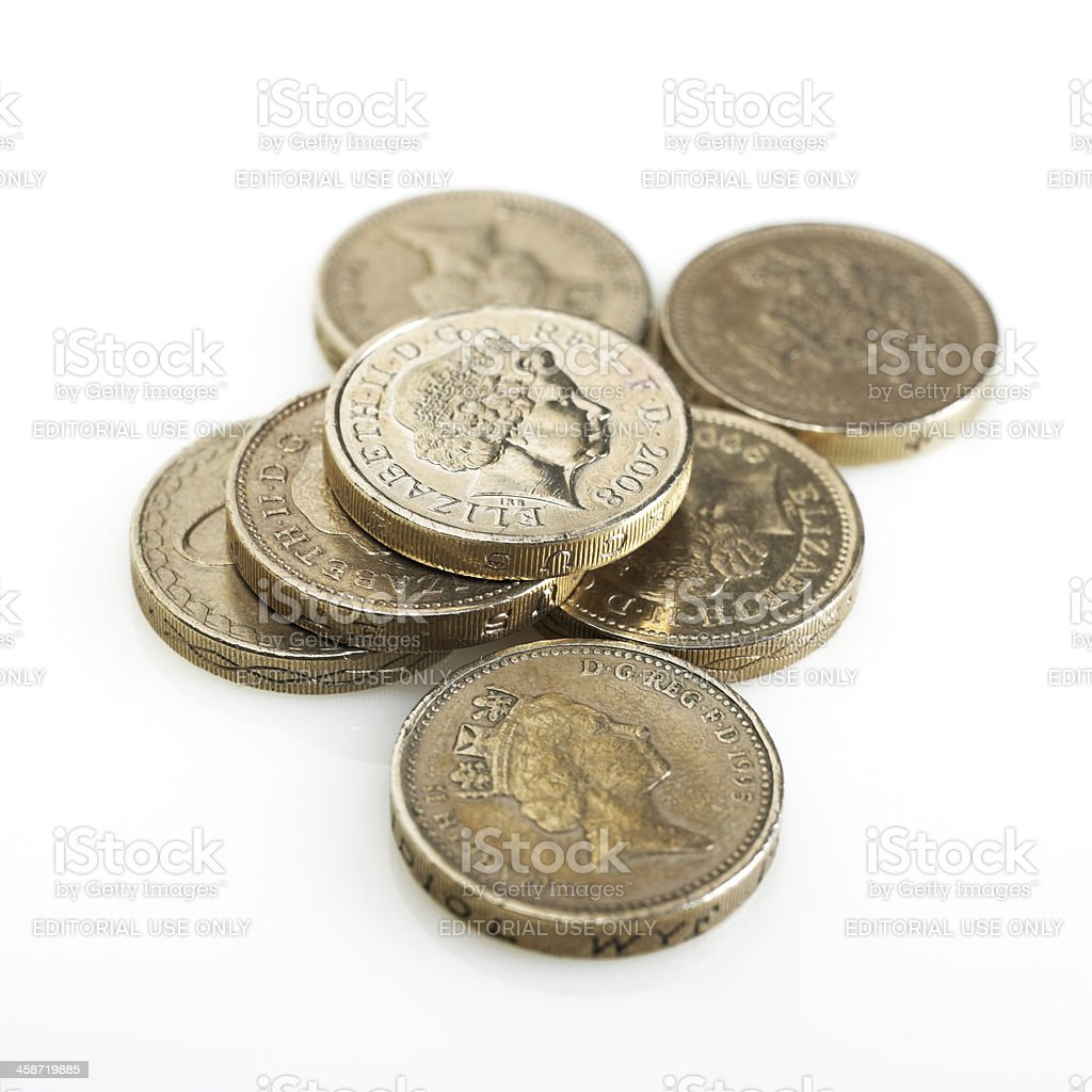 British pounds royalty-free stock photo