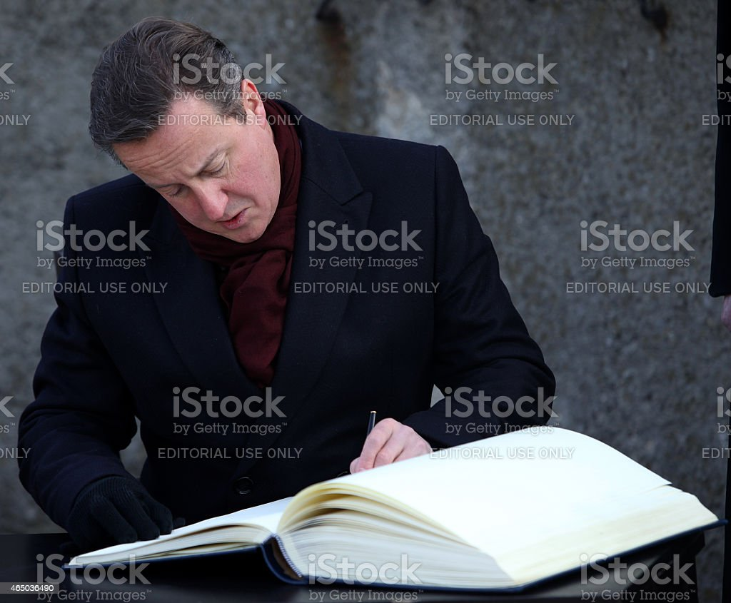 British Prime Minister David Cameron stock photo