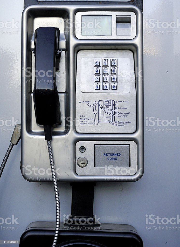 British public payphone royalty-free stock photo