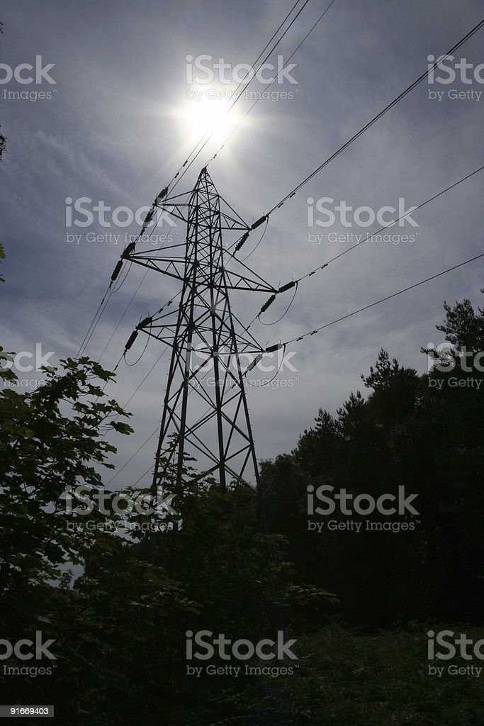british pylon stock photo