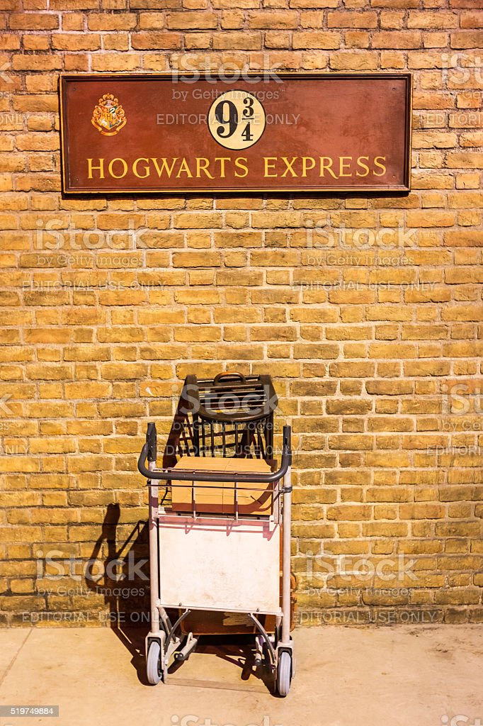 British Rail homage to Harry Potter at Kings Cross station stock photo