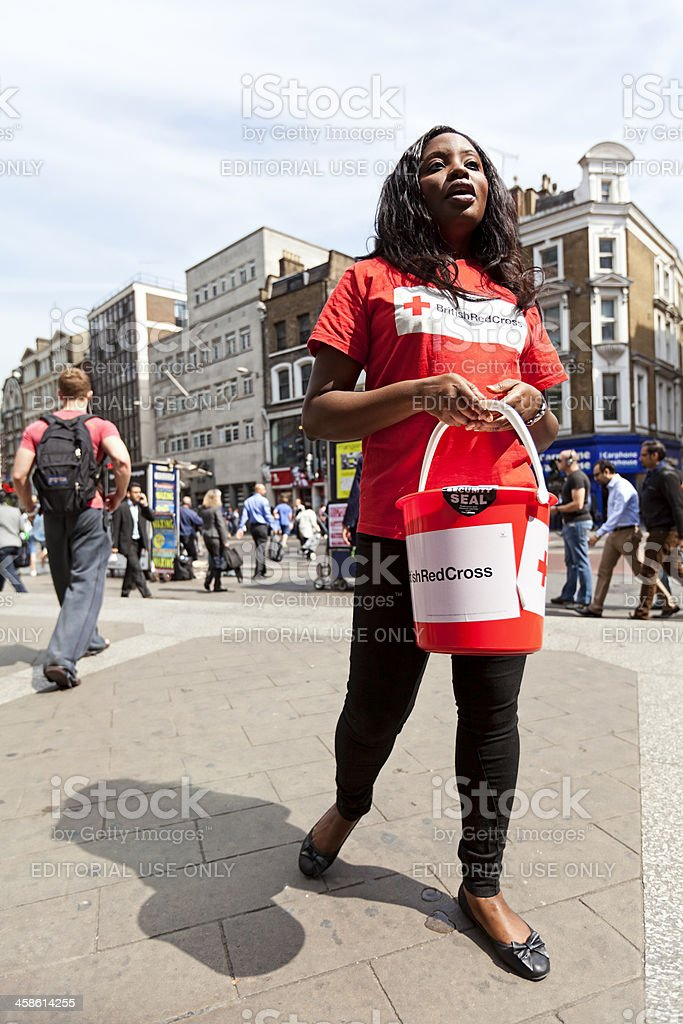 British Red Cross royalty-free stock photo