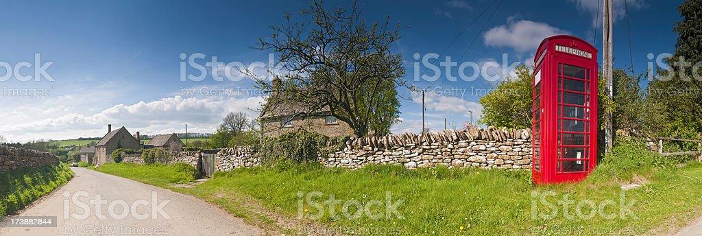 British red phone box country lane royalty-free stock photo