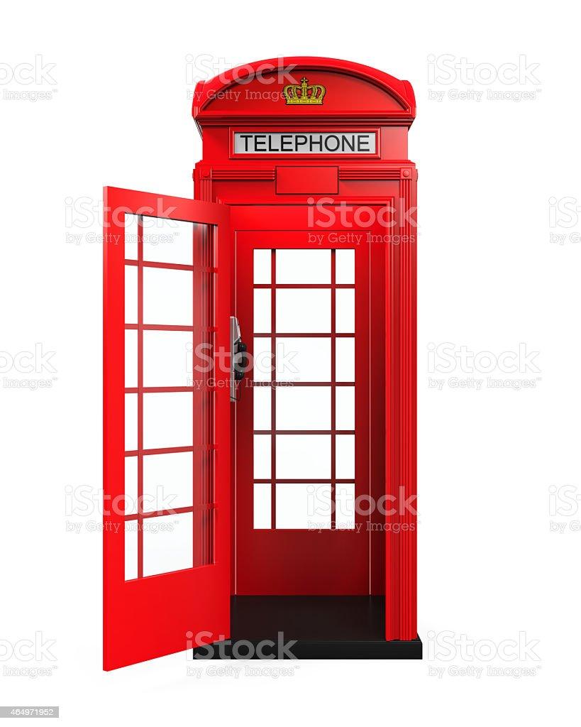 British Red Telephone Booth stock photo