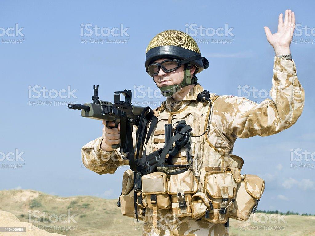 British Royal Commando royalty-free stock photo