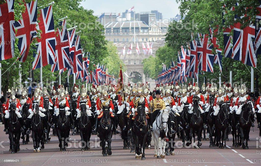 British Royal Parade royalty-free stock photo