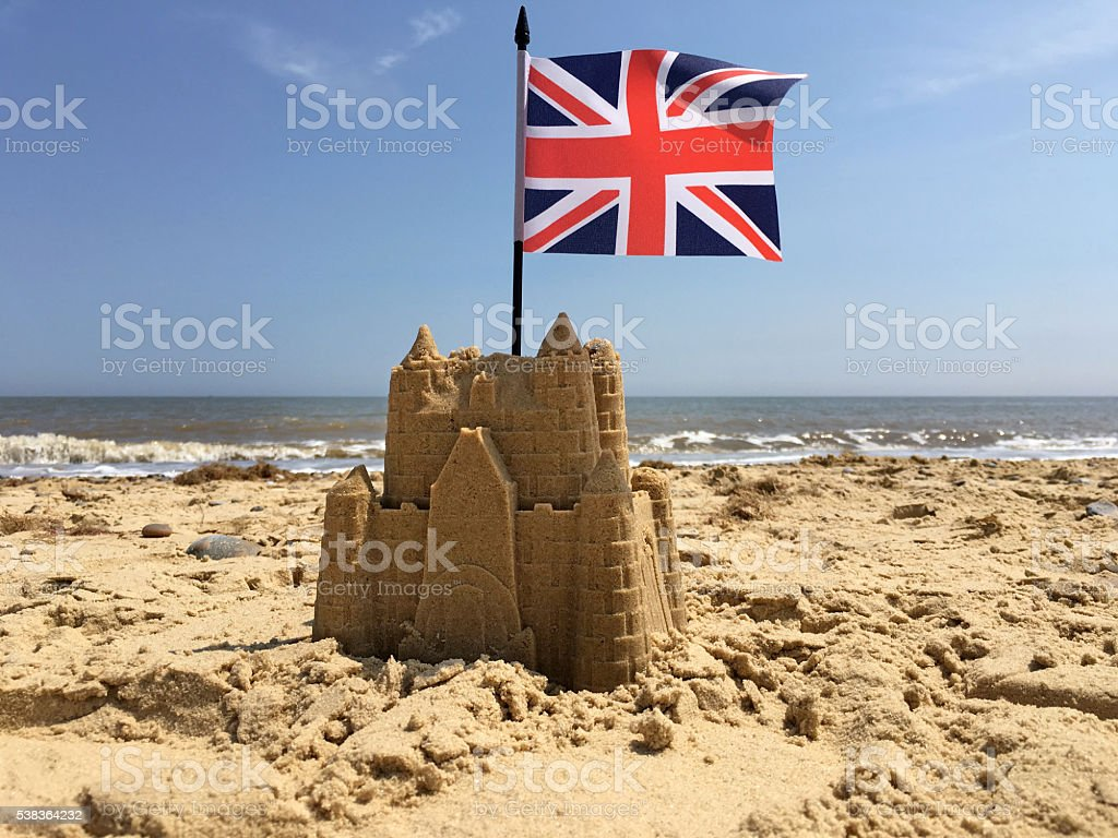 British Sandcastle stock photo