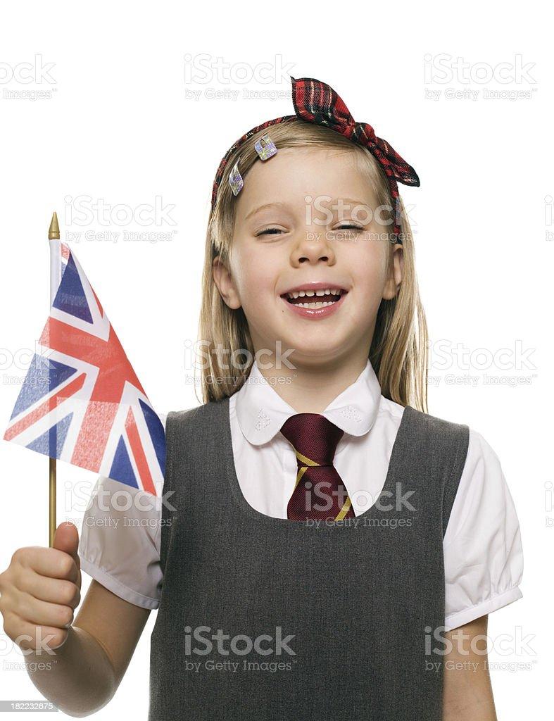British School Girl, Studio Portrait royalty-free stock photo