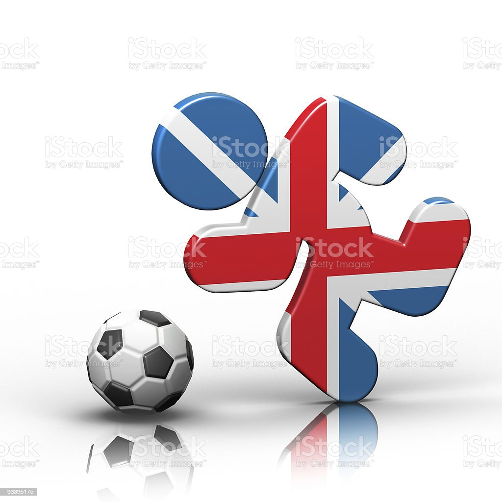 British Soccer royalty-free stock photo
