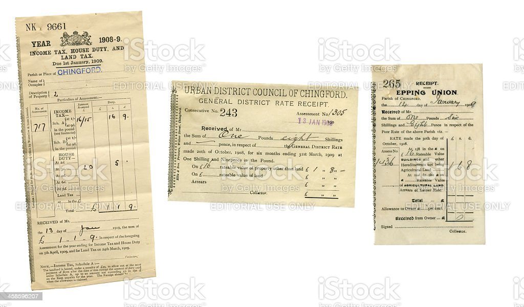 British social history documents stock photo